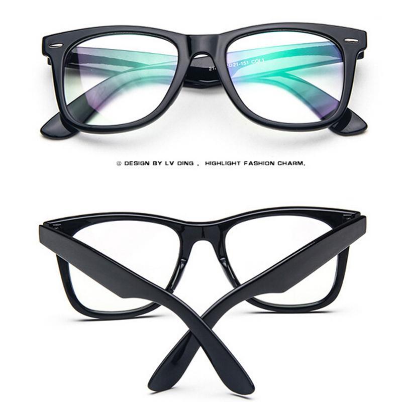 Pro Acme New Wayfarer Nonprescription Glasses Frame Clear