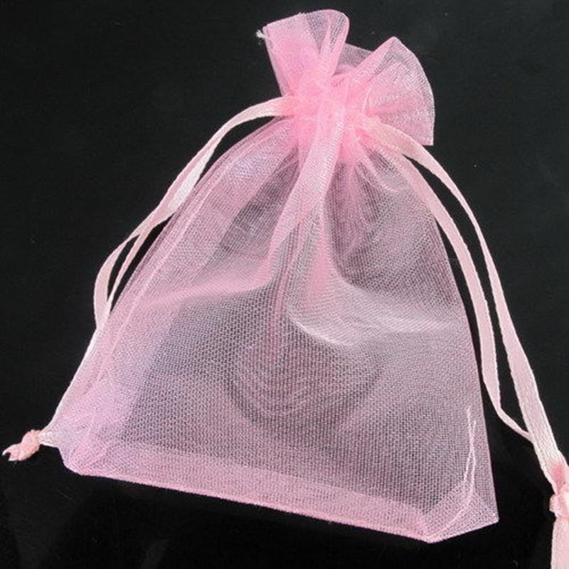 WHOLESALE 100Pcs Organza Wedding Party Favor Decoration Gift Candy Bags 9x7cm