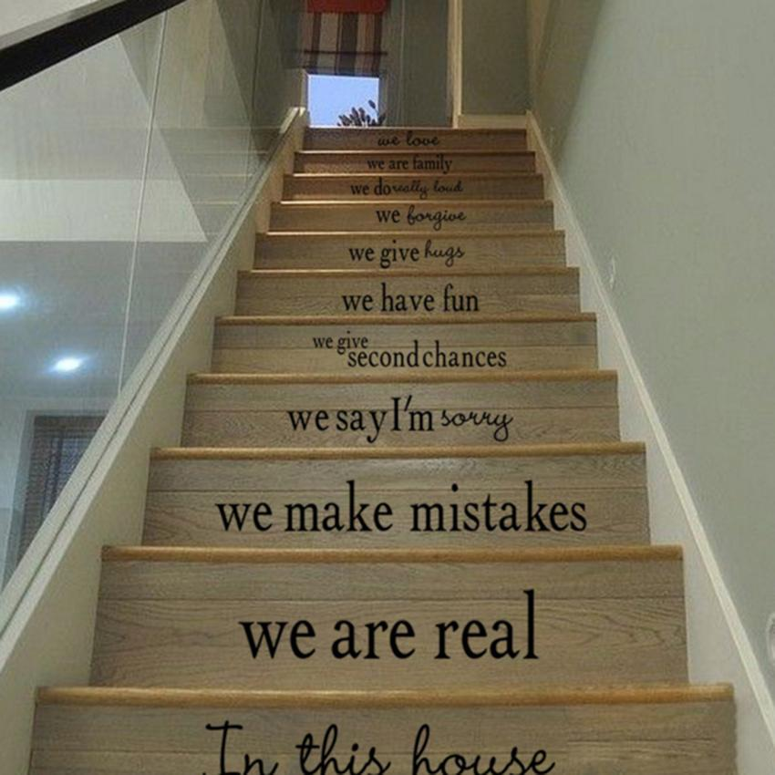 stairs wall quote decal sticker decal vinyl art home decor new ebay. Black Bedroom Furniture Sets. Home Design Ideas