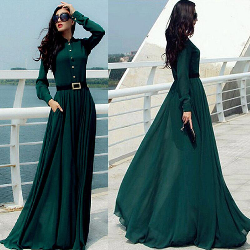 Kaftan Abaya Jilbab Islamic Muslim Bow Slim Women Long Sleeve ...