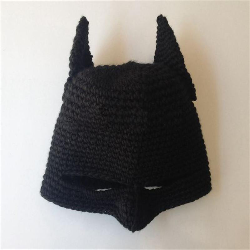 novelty handmade winter beanie crochet cool batman mask