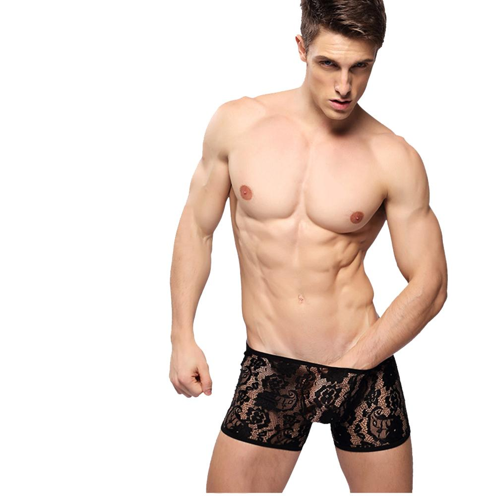 Sexy Lingerie Underwear Men's Lace Sissy Pouch Thongs Hot Male ...