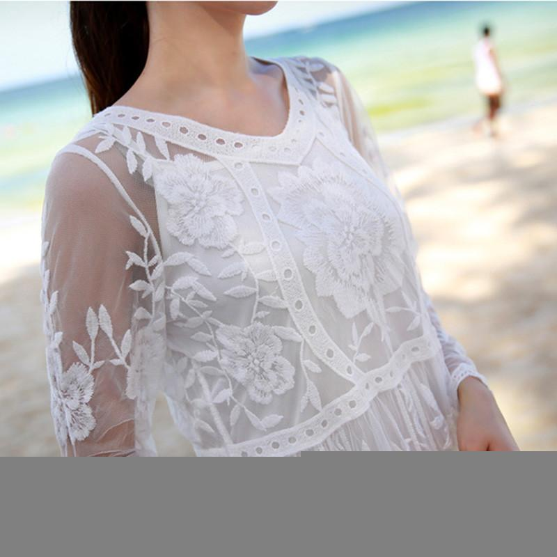 lace white baby shower dress pregnancy maternity wedding maxi dress
