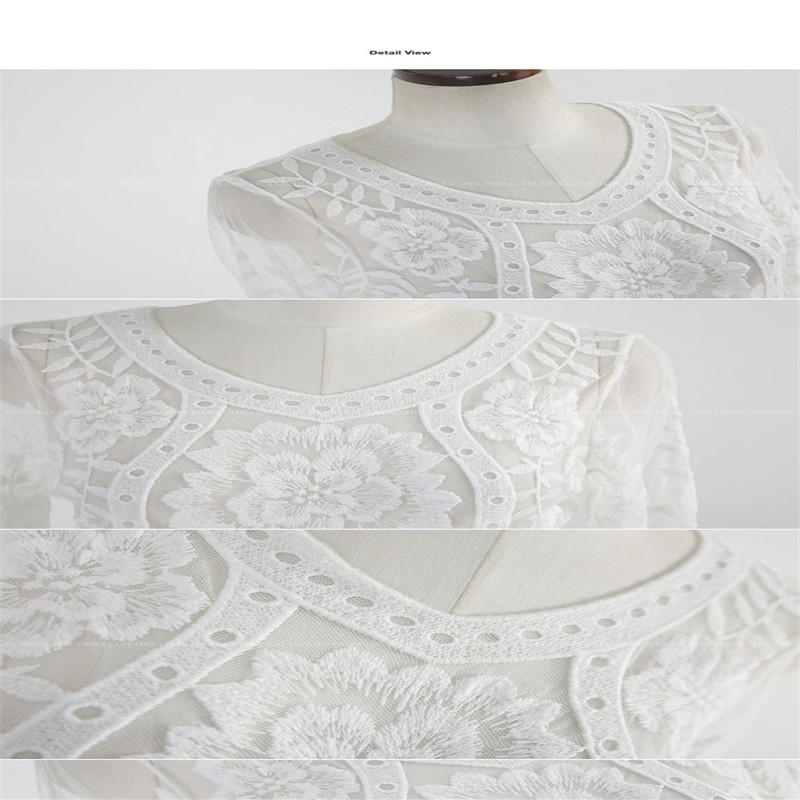Lace Maternity Dresses For Baby Shower: Ladies Boho Lace White Baby Shower Dress Pregnancy