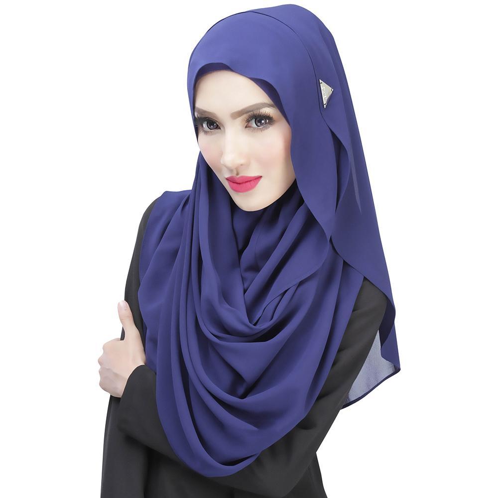 Hat scarf full hijab Muslim turban head wrap Women Wrap Shawl 1pcs