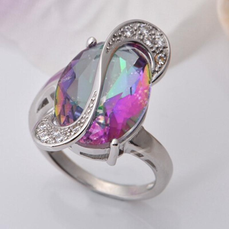 luxury jewelry gift rainbow oval moonstone gemstone charm