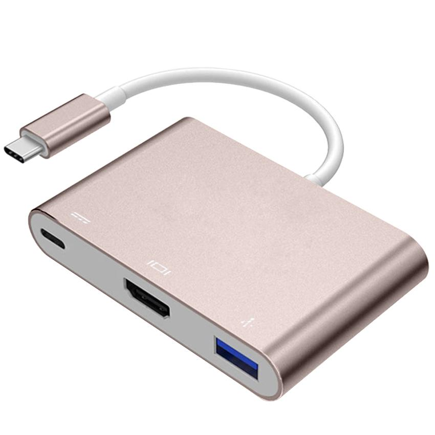 type c to 4k hdmi usb 3 0 hub usb c charging adapter cable. Black Bedroom Furniture Sets. Home Design Ideas
