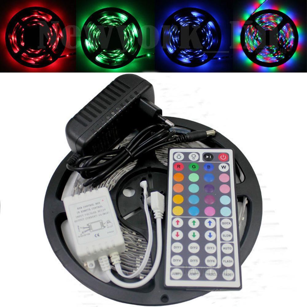 5m 10m 5050 3528 smd led strip lights rgb color tape. Black Bedroom Furniture Sets. Home Design Ideas