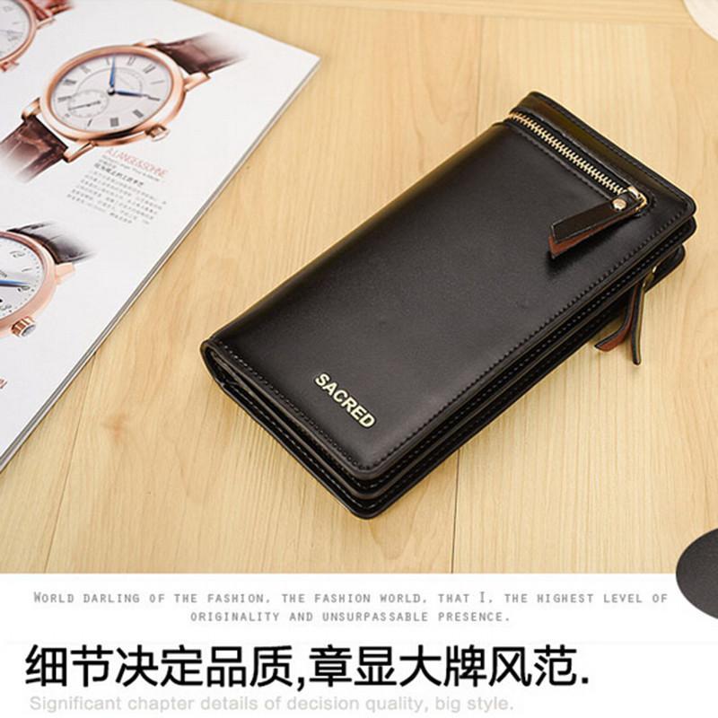 Hot Sale Women Fashion Leather Wallet Button Clutch Purse Lady Long Handbag Bag