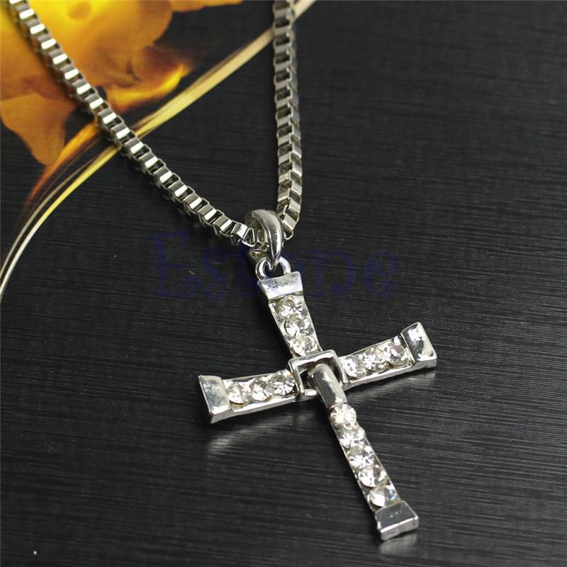 2pcs toretto cross pendant necklace christian fast