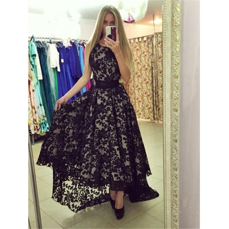 2015 Lace Hi-Lo Cocktail Prom Party Evening Gown Pageant Dress Custom Homecoming
