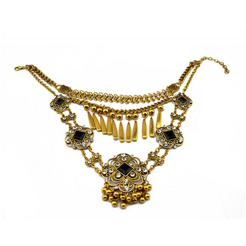 ethnic tribal boho bib necklace belly bohemian