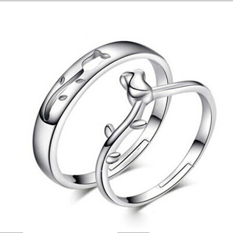 18 styles his hers rings silver promise rings