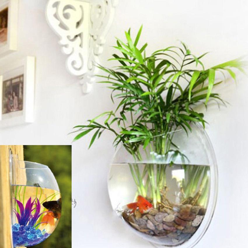 home decoration pot plant wall mounted hanging bubble bowl. Black Bedroom Furniture Sets. Home Design Ideas