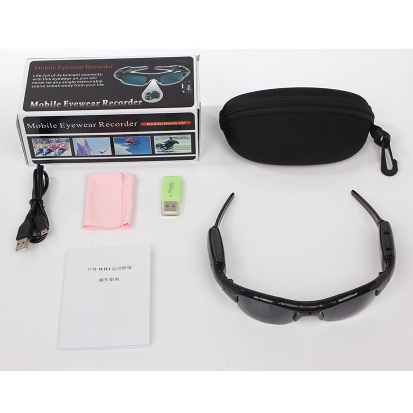 Hidden Spy Glasses WiFi Live Streaming Covert Security IP Camera FHD 1080P Glass