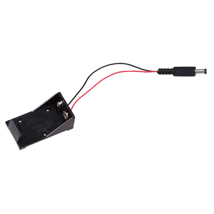 Details about 9V Battery Power Cable Holder Plug to DC Connector 5.5mm on