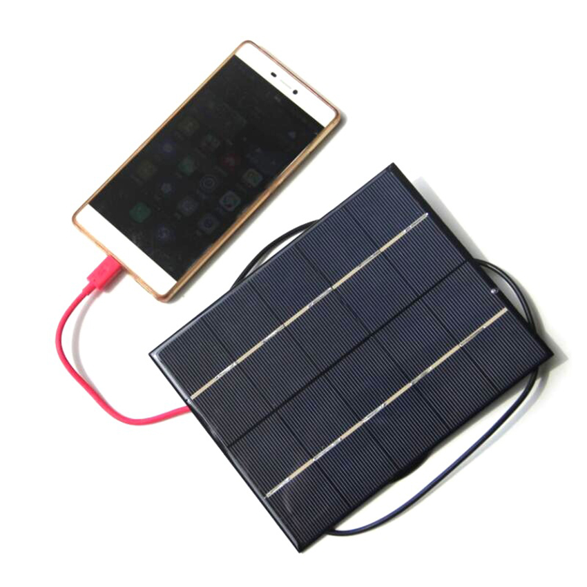 5v 680ma Solar Powered Charger Panel for 18650 Battery Smart Phone Power Bank