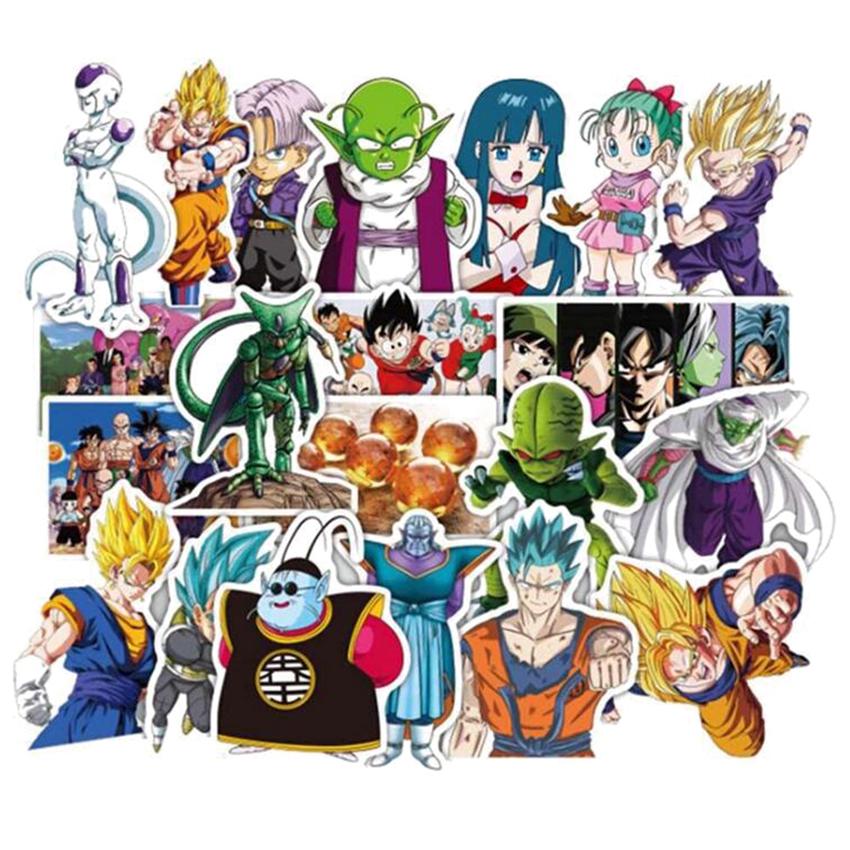 Dragon Ball Z 50pcs Super Saiyan Goku Anime Decal Sticker for Car//Truck//Laptop