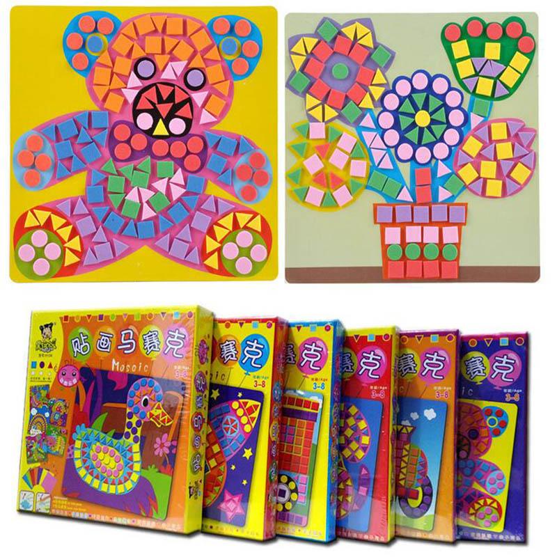 Details About Exquisite 3d Diy Eva Mosaics Stickers Transport Animal Drawing Kids Crafts Set