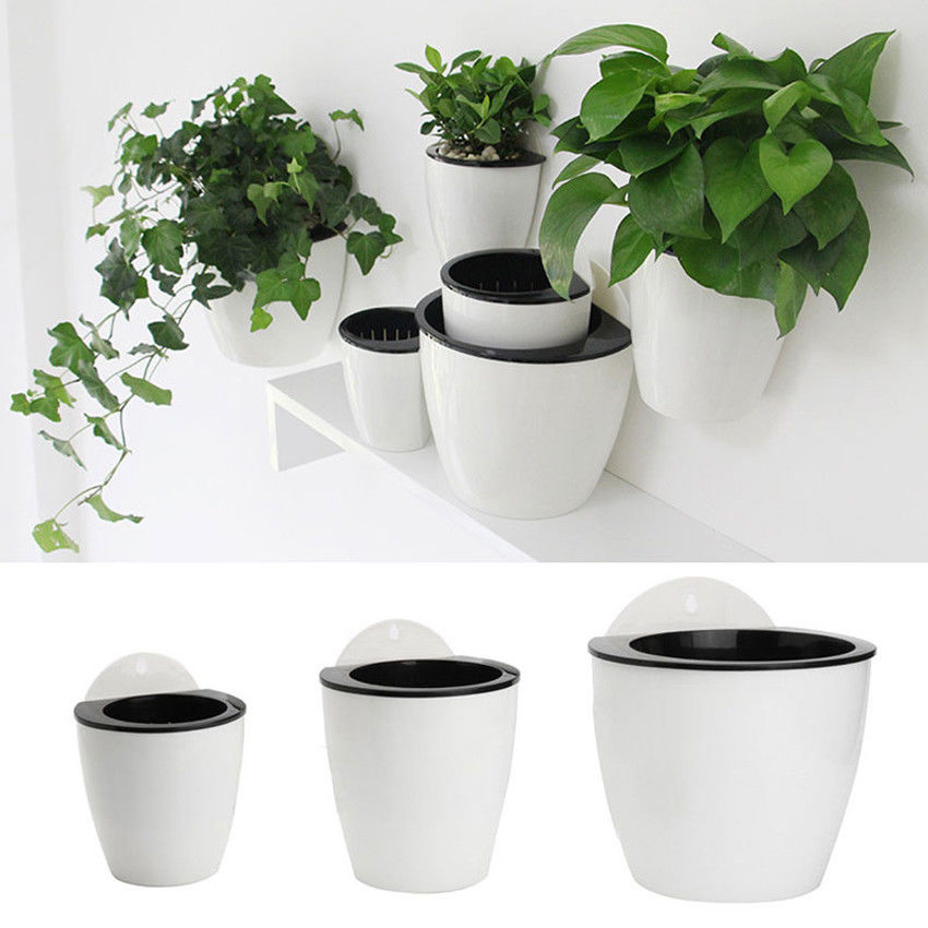 Self Water Flower Pot Plant Planter Garden Home Wall Hanging Resin Decora Lot Ebay