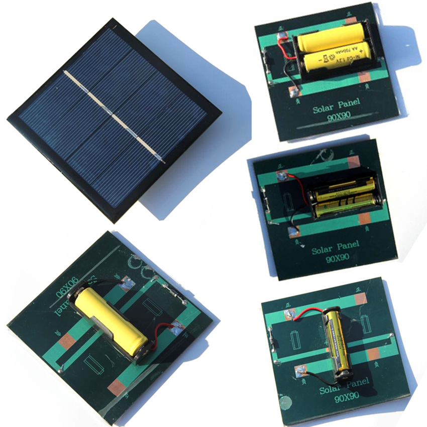 Portable 1w Solar Panel Solar System For Aa Aaa Battery