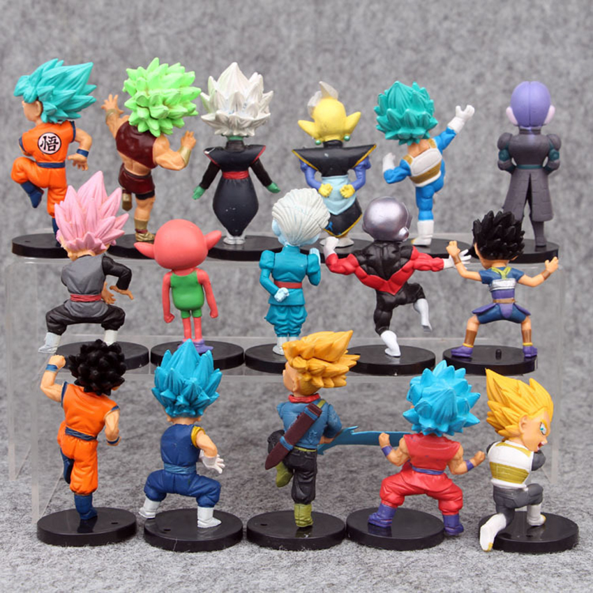 16PCS //Set DragonBall Dragon Ball Torankusu Son Goku PVC Figure Toy Gift